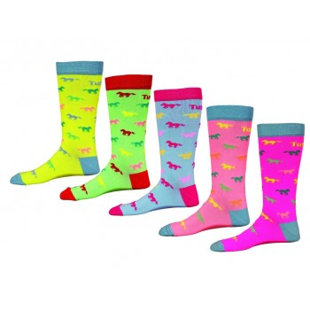 TUFFRIDER CHILD'S NEON PONY SOCK