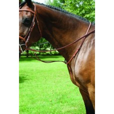 VESPUCCI EURO PLAIN RAISED RUNNING MARTINGALE