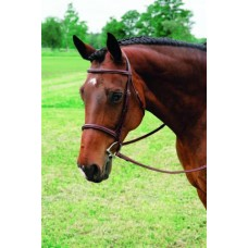 VESPUCCI SINGLE CROWN FANCY RAISED HUNT BRIDLE