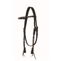 SIERRA GENTRY BROWBAND HEADSTALL, DARK LATIGO
