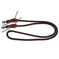 SIERRA DOUBLE BRAID NYLON ROPE GAMING REINS, 7 foot