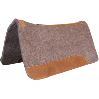MUSTANG WESTERN GREY WOOL CONTOURED PAD, 1 INCH, 32X32