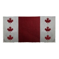 SIERRA COTTON/ACRYLIC CANADIAN FLAGS SADDLE BLANKET,32 in x 32in