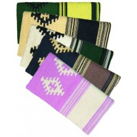 SIERRA 100 PERCENT WOOL PATTERNED SADDLE BLANKET 32 in x 36in