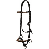 SIERRA SIDE PULL ROPER HALTER WITH BRAIDED NOSE