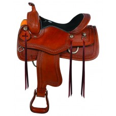 SIERRA PLAIN HIGH TRAIL SADDLE, SOFT CHESTNUT