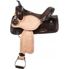 SIERRA DASH BARREL SADDLE,  DARK BROWN
