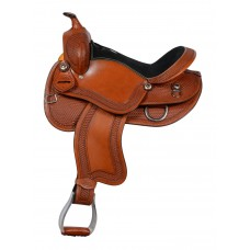 SIERRA REECE DRAFT SADDLE, CHESTNUT