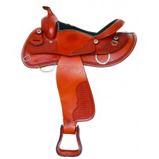 SIERRA HALFINGER DRAFT SADDLE, SOFT CHESTNUT