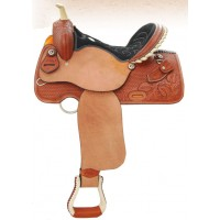 SIERRA DYLAN BARREL SADDLE, SOFT CHESTNUT WITH ROUGH OUTFENDERS