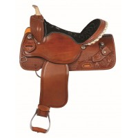 SIERRA ARGO BARREL SADDLE, SOFT CHESTNUT
