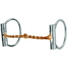 DEE RING SNAFFLE BIT with COPPER TWISTED WIRE, 5 INCH