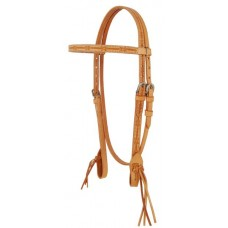 SIERRA BARB WIRE and WATER TIES BROWBAND HEADSTALL, LIGHTOIL