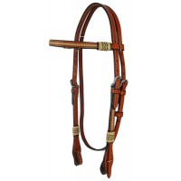 SIERRA PLAIN & RAWHIDE BROW HEADSTALL, SOFT CHESTNUT