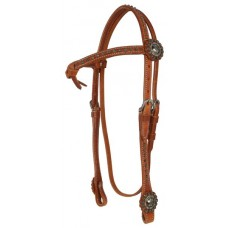 SIERRA FANCY FUTURITY HARNESS LEATHER HEADSTALL, HARNESSLEATHER