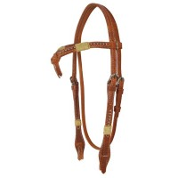 SIERRA HARNESS & RAWHIDE CROSSOVER HEADSTALL