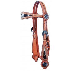SIERRA GIRAFFE WIDE BROWBAND HEADSTALL, LIGHT OIL