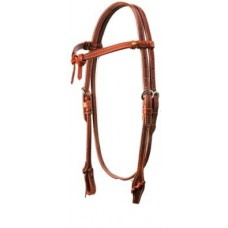 SIERRA DOUBLE & STITCHED HARNESS CROSSOVER HEADSTALL