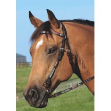 SIERRA CHEVRONS AND SILVER BROW HEADSTALL, DARK BROWN
