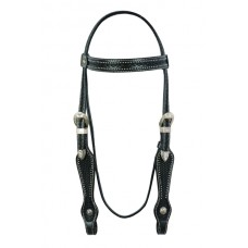 SIERRA BLACK & BUCKSTITCH BROW HEADSTALL