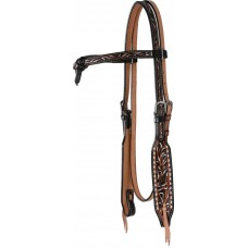 SIERRA FEATHER & STITCH CROSSOVER HEADSTALL