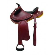 SIERRA BROCK STOCK/PLEASURE SADDLE, SOFT CHESTNUT