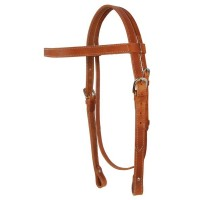 SIERRA HARNESS LEATHER DRAFT HEADSTALL, LIGHT OIL