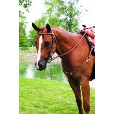 SIERRA SHOW REINS with SPOTS & ROSETTES, SOFT CHESTNUT