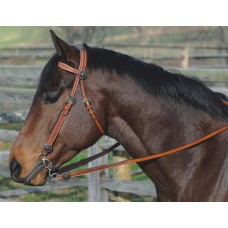 SIERRA STEER HEAD REINS, SOFT CHESTNUT