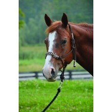 SIERRA BRAIDED NOSE FLUORESCENT TRIM ROPE HALTER