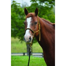 SIERRA BRAIDED NOSE TWO-TONE ROPE HALTER