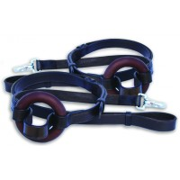 IMPERIAL ECONOMY LEATHER SIDE REINS, 5/8 INCH, BROWN