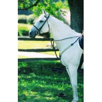 CONTENDER ELASTIC BREASTPLATE with RUNNING ATTACHMENT,HAVANA, HORSE SIZE
