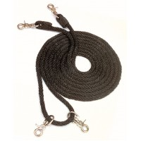 CAVALIER ROPE DRAW REINS, BROWN