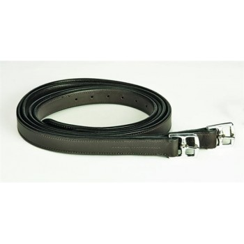 CONTENDER STIRRUP LEATHERS NYLON CORE 1 in x 54 in, HAVANA