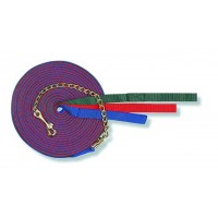 CAVALIER WEB LUNGE LINE with CHAIN, 30 ft with 20 in CHAIN