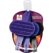 EQUERRY MAGICAL BRUSH/PLASTIC GROOMER, 3-PACK