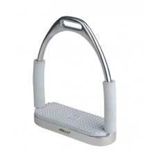 CENTAUR DOUBLE JOINTED STIRRUP IRONS, LIGHT GREY