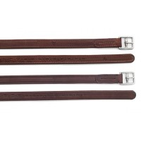 PESSOA STIRRUPS LEATHERS WITH TRADITIONAL LEATHER CHAPE ENDS