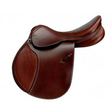 OVATION COMPETITION SHOW JUMPING SADDLE with EXCHANGE GULLET, HAZELNUT