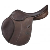 PESSOA A/O CALFSKIN COVERED LEATHER SADDLE, DARK HAVANA