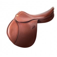 PESSOA GENX NATURAL COVERED LEATHER SADDLE with AMS PANELS,OAKBARK