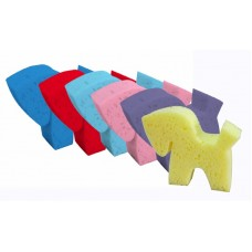 EQUI-ESSENTIALS PONY SHAPED GROOMING SPONGES,PACKAGE OF 6