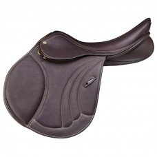 PESSOA TOMBOY II SADDLE, CALFSKIN COVERED LEATHER, DARK BROWN