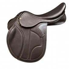 PESSOA PRO VIVALDI II SADDLE, CALFSKIN COVERED LEATHER, DARK BROWN