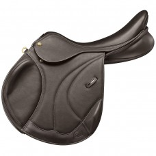 PESSOA PRO LEGACY MONOFLAP II SADDLE, CALFSKIN COVERED LEATHER, DARK BROWN