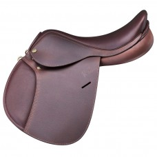 PESSOA PONY SADDLE, GRAINED PULL UP LEATHER, OAKBARK