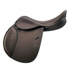 PESSOA JUNIOR SADDLE, CALFSKIN COVERED LEATHER, DARK BROWN