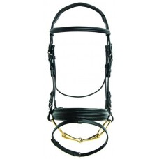 ST. GEORGE DRESSAGE SNAFFLE BRIDLE