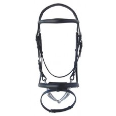 ST. GEORGE ELEGANT SNAFFLE BRIDLE with CRANK